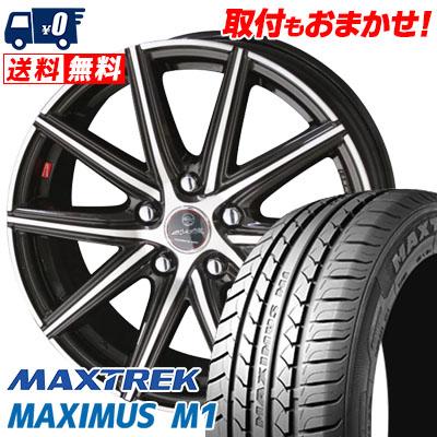 205/60R16 92H MAXTREK マックストレック MAXIMUS M1 マキシマス エムワン SMACK PRIME SERIES VANISH スマック プライムシリーズ ヴァニッシュ サマータイヤホイール4本セット