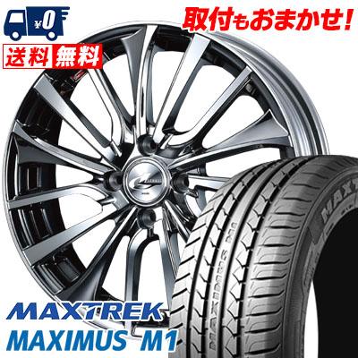 195/55R16 87V MAXTREK マックストレック MAXIMUS M1 マキシマス エムワン weds LEONIS VT ウエッズ レオニス VT サマータイヤホイール4本セット