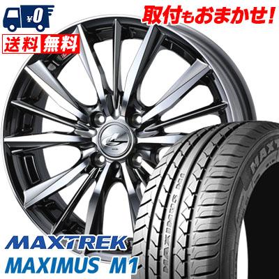 195/55R16 87V MAXTREK マックストレック MAXIMUS M1 マキシマス エムワン weds LEONIS VX ウエッズ レオニス VX サマータイヤホイール4本セット