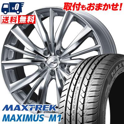 245/40R19 98W XL MAXTREK マックストレック MAXIMUS M1 マキシマス エムワン weds LEONIS VX ウエッズ レオニス VX サマータイヤホイール4本セット