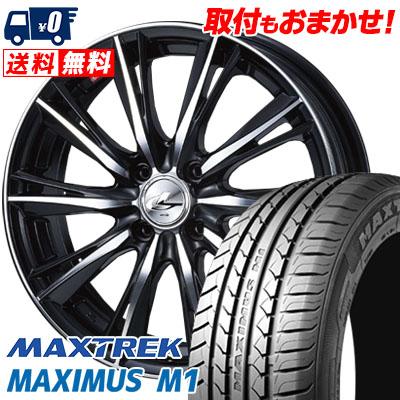 215/40R17 87W XL MAXTREK マックストレック MAXIMUS M1 マキシマス エムワン weds LEONIS WX ウエッズ レオニス WX サマータイヤホイール4本セット
