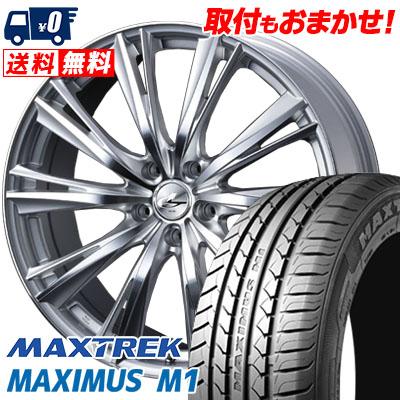 205/60R16 92H MAXTREK マックストレック MAXIMUS M1 マキシマス エムワン weds LEONIS WX ウエッズ レオニス WX サマータイヤホイール4本セット