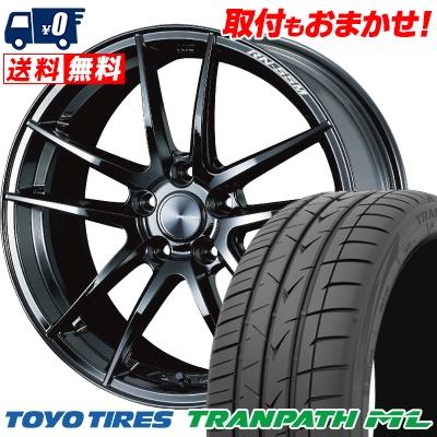 225/40R18 92W XL TOYO TIRES トーヨー タイヤ TRANPATH ML トランパスML WedsSport RN-55M ウェッズスポーツ RN-55M サマータイヤホイール4本セット
