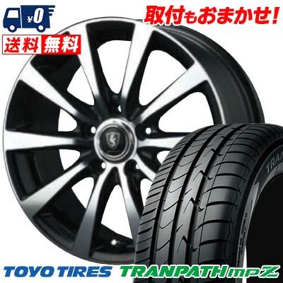215/55R18 99V TOYO TIRES トーヨー タイヤ TRANPATH mpZ トランパス mpZ EUROSPEED BL10 ユーロスピード BL10 サマータイヤホイール4本セット