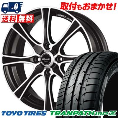 185/60R15 84H TOYO TIRES トーヨー タイヤ TRANPATH mpZ トランパス mpZ Warwic Carozza ワーウィック カロッツァ サマータイヤホイール4本セット
