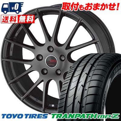 205/70R15 96H TOYO TIRES トーヨー タイヤ TRANPATH mpZ トランパス mpZ ENKEI CREATIVE DIRECTION CDM1 エンケイ クリエイティブ ディレクション CD-M1 サマータイヤホイール4本セット