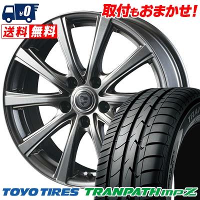 215/45R18 93W TOYO TIRES トーヨー タイヤ TRANPATH mpZ トランパス mpZ CLAIRE DG10 クレール DG10 サマータイヤホイール4本セット