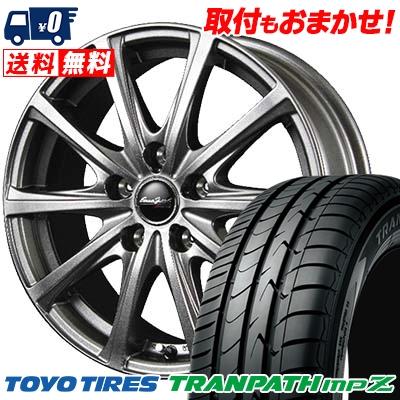 205/55R16 TOYO TIRES トーヨー タイヤ TRANPATH mpZ トランパス mpZ EuroSpeed V25 ユーロスピード V25 サマータイヤホイール4本セット