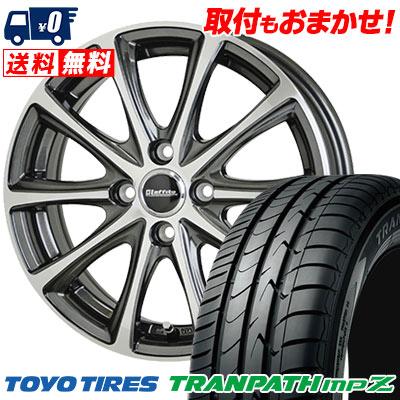 185/55R15 82V TOYO TIRES トーヨー タイヤ TRANPATH mpZ トランパス mpZ Laffite LE-04 ラフィット LE-04 サマータイヤホイール4本セット