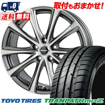 195/65R15 91H TOYO TIRES トーヨー タイヤ TRANPATH mpZ トランパス mpZ Laffite LE-04 ラフィット LE-04 サマータイヤホイール4本セット