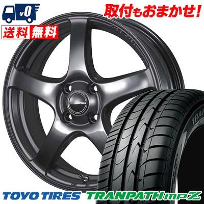 185/65R15 TOYO TIRES トーヨー タイヤ TRANPATH mpZ トランパス mpZ PIAA Eleganza S-01 PIAA エレガンツァ S-01 サマータイヤホイール4本セット