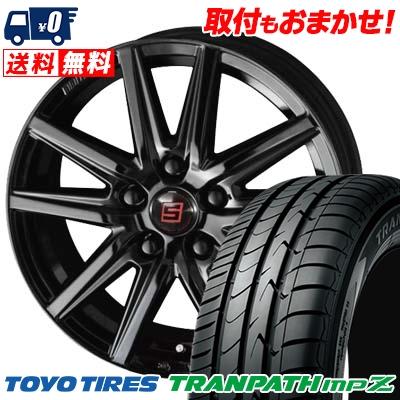 215/65R16 98H TOYO TIRES トーヨー タイヤ TRANPATH mpZ トランパス mpZ SEIN SS BLACK EDITION ザイン エスエス ブラックエディション サマータイヤホイール4本セット