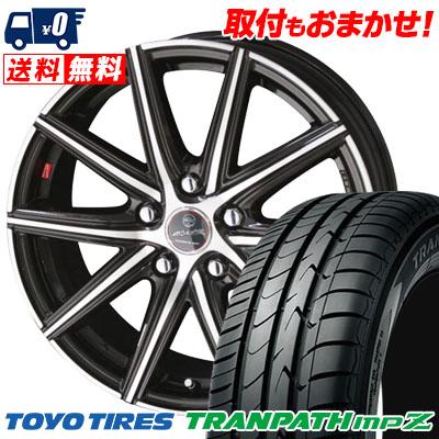 215/65R16 98H TOYO TIRES トーヨー タイヤ TRANPATH mpZ トランパス mpZ SMACK PRIME SERIES VANISH スマック プライムシリーズ ヴァニッシュ サマータイヤホイール4本セット