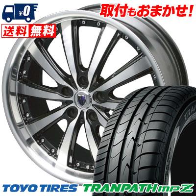 225/50R18 95V TOYO TIRES トーヨー タイヤ TRANPATH mpZ トランパス mpZ STEINER VS-5 シュタイナー VS5 サマータイヤホイール4本セット