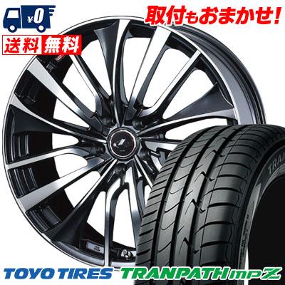 215/60R16 95H TOYO TIRES トーヨー タイヤ TRANPATH mpZ トランパス mpZ weds LEONIS VT ウエッズ レオニス VT サマータイヤホイール4本セット