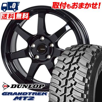 225/75R16 103/100Q DUNLOP ダンロップ GRANDTREK MT2 グラントレック MT2 G.speed G-03 Gスピード G-03 サマータイヤホイール4本セット