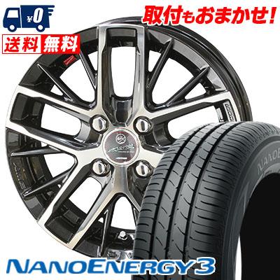 165/55R15 75V TOYO TIRES トーヨー タイヤ NANOENERGY3 ナノエナジー3 SMACK REVILA スマック レヴィラ サマータイヤホイール4本セット