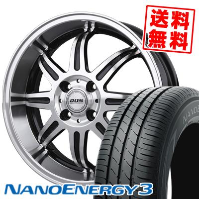 165/55R15 75V TOYO TIRES トーヨー タイヤ NANOENERGY3 ナノエナジー3 BADX D.O.S. DEEP RIVAGE バドックス D.O.S ディープリヴァージュ サマータイヤホイール4本セット