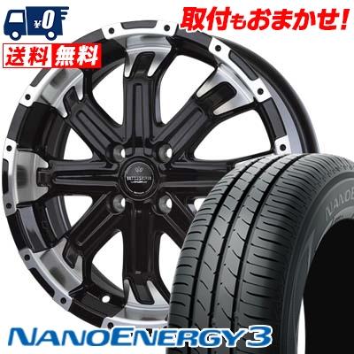 145/65R15 72S TOYO TIRES トーヨー タイヤ NANOENERGY3 ナノエナジー3 BADX LOXARNY BATTLESHIP4 バドックス ロクサーニ バトルシップ4 サマータイヤホイール4本セット