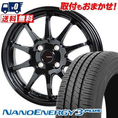 185/70R14 88S TOYO TIRES トーヨー タイヤ NANOENERGY3 PLUS ナノエナジー3 プラス G.speed G-04 Gスピード G-04 サマータイヤホイール4本セット