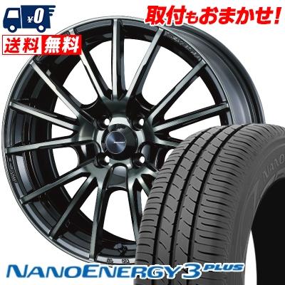 205/40R17 80W TOYO TIRES トーヨー タイヤ NANOENERGY3 PLUS ナノエナジー3 プラス WedsSport SA-35R ウェッズスポーツ SA-35R サマータイヤホイール4本セット