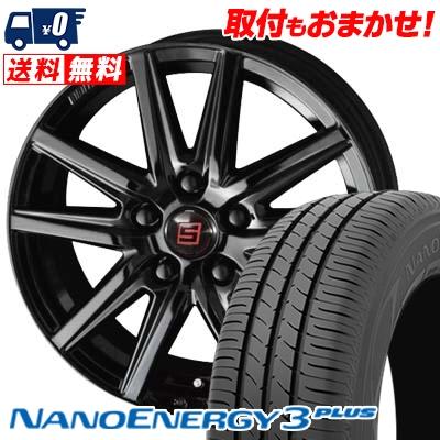 215/55R16 93V TOYO TIRES トーヨー タイヤ NANOENERGY3 PLUS ナノエナジー3 プラス SEIN SS BLACK EDITION ザイン エスエス ブラックエディション サマータイヤホイール4本セット