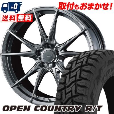 225/55R18 98Q TOYO TIRES トーヨー タイヤ OPEN COUNTRY R/T オープンカントリー R/T WEDS F ZERO FZ-2 ウェッズ エフゼロ FZ-2 サマータイヤホイール4本セット