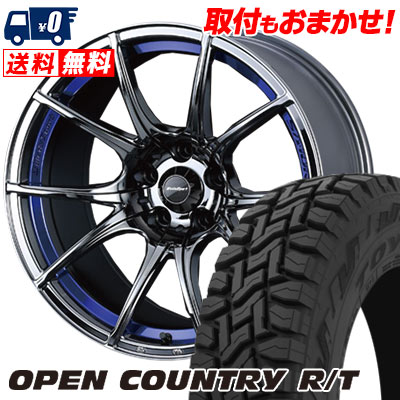 225/55R18 98Q TOYO TIRES トーヨー タイヤ OPEN COUNTRY R/T オープンカントリー R/T wedsSport SA-10R ウエッズスポーツ SA10R サマータイヤホイール4本セット
