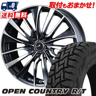 215/70R16 100Q TOYO TIRES トーヨー タイヤ OPEN COUNTRY R/T オープンカントリー R/T weds LEONIS VT ウエッズ レオニス VT サマータイヤホイール4本セット