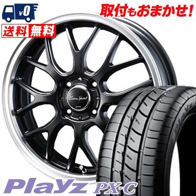 155/55R14 69V BRIDGESTONE ブリヂストン Playz PX-C プレイズ PX-C Eoro Sport Type 805 ユーロスポーツ タイプ805 サマータイヤホイール4本セット