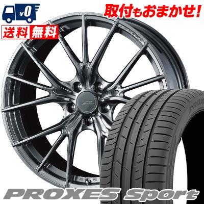 215/40R18 89Y XL TOYO TIRES トーヨー タイヤ PROXES sport プロクセス スポーツ WEDS F ZERO FZ-1 ウェッズ エフゼロ FZ-1 サマータイヤホイール4本セット