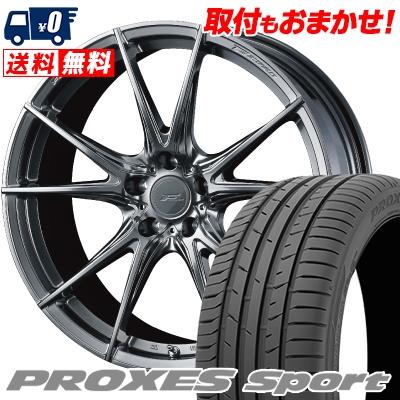 245/45R19 102Y XL TOYO TIRES トーヨー タイヤ PROXES sport プロクセス スポーツ WEDS F ZERO FZ-2 ウェッズ エフゼロ FZ-2 サマータイヤホイール4本セット
