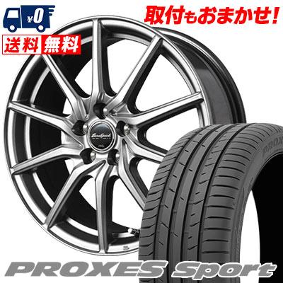 225/55R17 101Y XL TOYO TIRES トーヨー タイヤ PROXES sport プロクセス スポーツ EuroSpeed G810 ユーロスピード G810 サマータイヤホイール4本セット