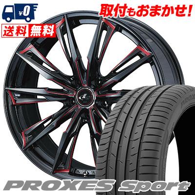 215/50R17 95W XL TOYO TIRES トーヨー タイヤ PROXES sport プロクセス スポーツ WEDS LEONIS GX ウェッズ レオニス GX サマータイヤホイール4本セット