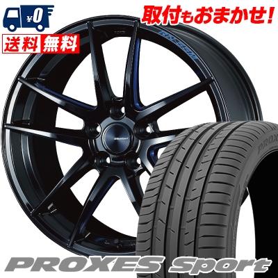 235/40R18 95Y XL TOYO TIRES トーヨー タイヤ PROXES sport プロクセス スポーツ WedsSport RN-55M ウェッズスポーツ RN-55M サマータイヤホイール4本セット【取付対象】