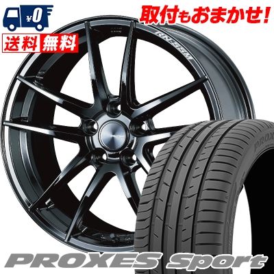 215 40R18 89Y XL TOYO TIRES トーヨー タイヤ PROXES sport プロクセス スポーツ WedsSport RN-55M ウェッズスポーツ RN-55M サマータイヤホイール4本セット