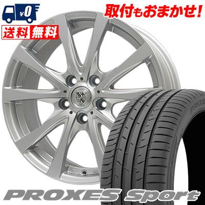215/45R17 91W XL TOYO TIRES トーヨー タイヤ PROXES sport プロクセス スポーツ TRG-SILBAHN TRG シルバーン サマータイヤホイール4本セット