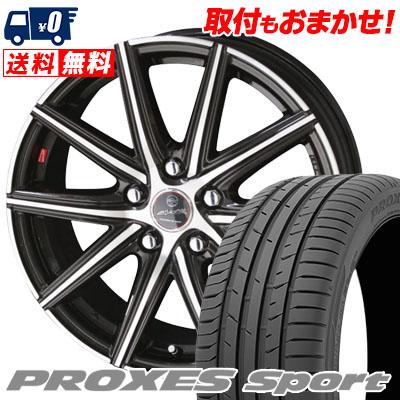 225/50R17 98Y XL TOYO TIRES トーヨー タイヤ PROXES sport プロクセス スポーツ SMACK PRIME SERIES VANISH スマック プライムシリーズ ヴァニッシュ サマータイヤホイール4本セット