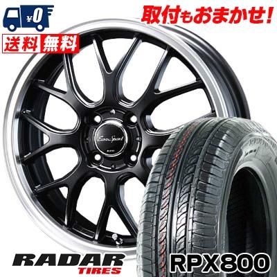 195/45R17 85W XL RADAR レーダー RPX800 アールピーエックス ハッピャク Eoro Sport Type 805 ユーロスポーツ タイプ805 サマータイヤホイール4本セット【取付対象】