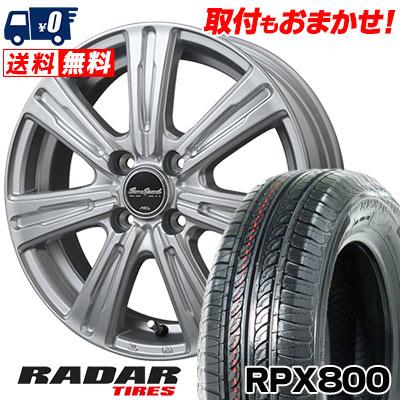 195/45R17 85W XL RADAR レーダー RPX800 アールピーエックス ハッピャク EuroSpeed C-07 ユーロスピード C-07 サマータイヤホイール4本セット