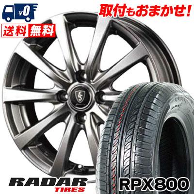 195/45R15 78V RADAR レーダー RPX800 アールピーエックス ハッピャク Euro Speed G10 ユーロスピード G10 サマータイヤホイール4本セット