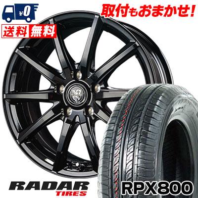 195/60R15 88H RADAR レーダー RPX800 アールピーエックス ハッピャク TRG-GB10 TRG GB10 サマータイヤホイール4本セット【取付対象】