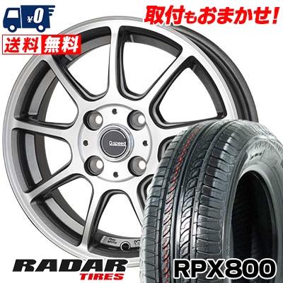 195/45R15 78V RADAR レーダー RPX800 アールピーエックス ハッピャク G.Speed P-01 Gスピード P-01 サマータイヤホイール4本セット