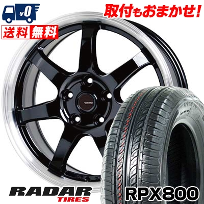 205/55R16 94W XL RADAR レーダー RPX800 アールピーエックス ハッピャク G.speed P-03 ジースピード P-03 サマータイヤホイール4本セット