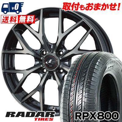 195/45R17 85W XL RADAR レーダー RPX800 アールピーエックス ハッピャク weds LEONIS MX ウェッズ レオニス MX サマータイヤホイール4本セット