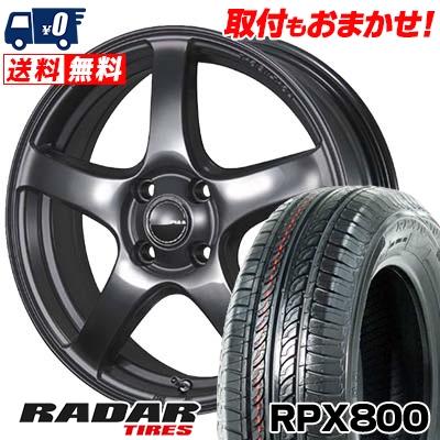 195/45R15 78V RADAR レーダー RPX800 アールピーエックス ハッピャク PIAA Eleganza S-01 PIAA エレガンツァ S-01 サマータイヤホイール4本セット