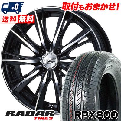 195/45R17 85W XL RADAR レーダー RPX800 アールピーエックス ハッピャク weds LEONIS WX ウエッズ レオニス WX サマータイヤホイール4本セット