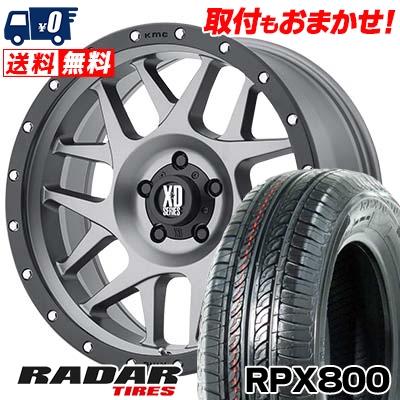 205/55R16 94W XL RADAR レーダー RPX800 アールピーエックス ハッピャク KMC XD127 BULLY KMC XD127 ブリー サマータイヤホイール4本セット