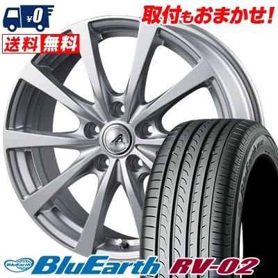 195/65R15 91H YOKOHAMA ヨコハマ BLUE EARTH RV02 ブルーアース RV-02 AZ SPORTS EX10 AZスポーツ EX10 サマータイヤホイール4本セット