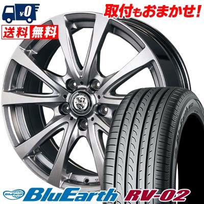 205/55R17 91V YOKOHAMA ヨコハマ BLUE EARTH RV02 ブルーアース RV-02 TRG-BAHN TRG バーン サマータイヤホイール4本セット